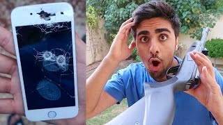 SHOOTING MY IPHONE !!! (EXPLODES)