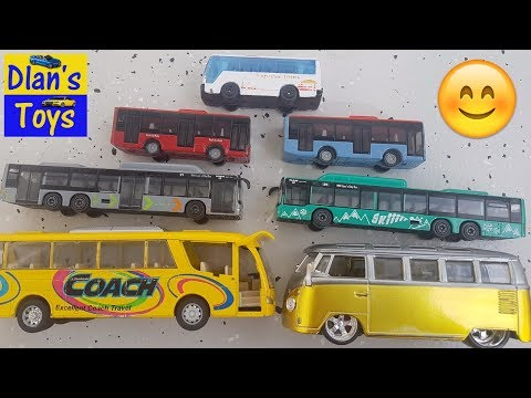 Bus for Kids - Buses from small to large - Video for Kids