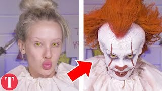 The POWER OF MAKEUP That Turned Beauties Into BEASTS (Pennywise From IT Movie, Wonder Woman)
