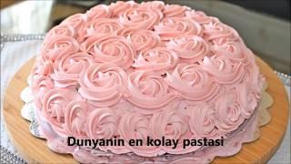 yoğun istek üzerine 1.5 milyon izlenmeyi geçen dünyanın en kolay pastamı paylaşıyorum