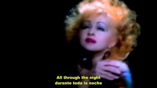 Cyndi Lauper - All Through The Night (Sub español e ingles)