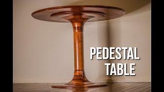 Making a modern pedestal table