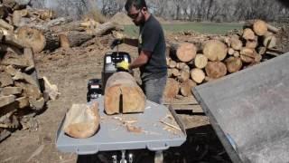 Kinetic Log Splitter cutting different wood