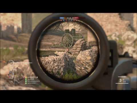 Battlefield 1 Sniper gameplay