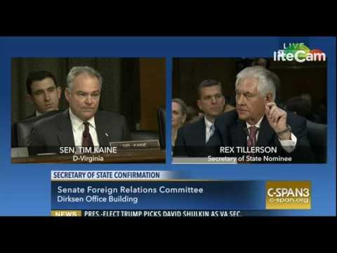 Sen. Tim Kaine Questions Rex Tillerson 1 11 17