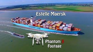 Estelle Maersk - 4k Aerial Footage