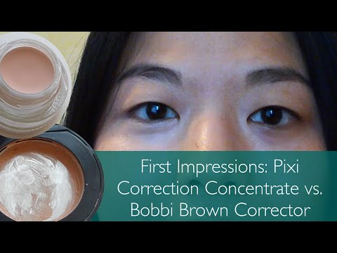 Dupe Review // Pixi Correction Concentrate vs. Bobbi Brown Corrector