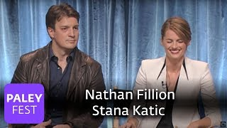 Castle - Nathan Fillion and Stana Katic Talk Handcuffs