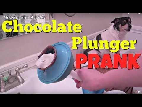 Poopy Plunger Prank