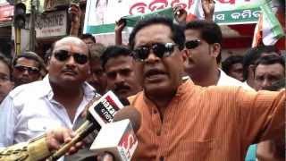 JSGLIVE.IN - Jharsuguda MLA Naba Kishore Das on All Orissa Bandh at Jharsuguda 10th Sept. 2012