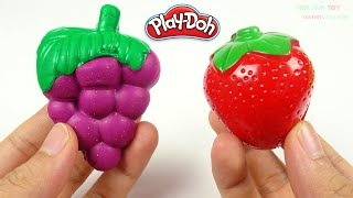 Learn Colors Play Doh Making Strawberry Fruits and Vegetables Toys for Kids
