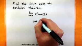 Calculus - Use the sandwich theorem to find the limit