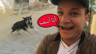 ايش يصير إذا ازعجت كلب؟   جولة بالدباب وهجم عني كلب ! 🐶🏍