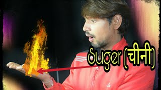 Real magic trick with sugar - black magic