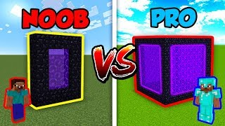 Minecraft NOOB vs. PRO: PORTAL in Minecraft!
