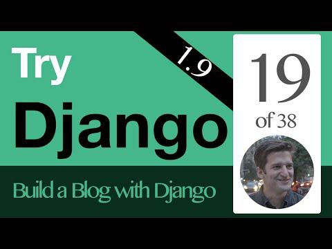 Try Django 1.9  - 19 of 38 - URL Links & Get Absolute URL