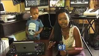 SA's two-year-old DJ gets the party going
