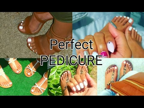 DIY AT HOME PEDICURE HOW TO WHITE TOES Perfect Soft Feet