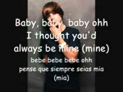 baby justin bieber letra ingles traducido a español