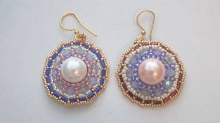 BeadsFriends: Beaded Earrings Tutorial - How to make the Wheel earrings (Brick Stitch)
