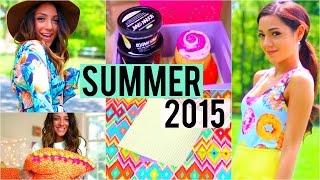 Summer 2015! DIY room decor, make-up tricks, + essentials!!