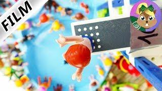 بلايموبيل  فيلم| مسابقة القفز في الحديقة المائية! جوليان يقفز من ارتفاع10 أمتار! عائلة الطيور
