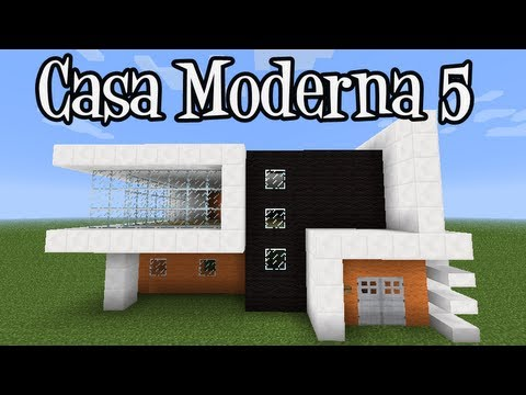 Tutoriais Minecraft Como Construir a Casa Moderna 5