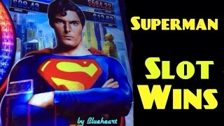 SUPERMAN the Movie slot machine ALL BONUSES and BIG WIN!
