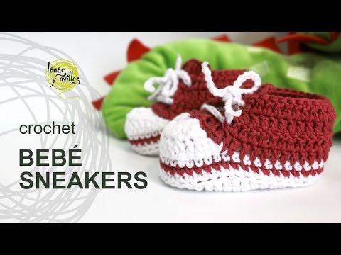 Tutorial Zapatillas Bebé Crochet o Ganchillo Sneakers