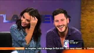 Janel Parrish and Valentin Chmerkovskiy Chat the Dating Rumors