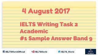 IELTS Writing Task 2 Academic Band 9 Sample Answer #1