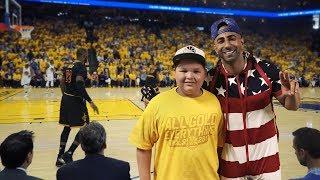 Took a Fan the NBA Finals. (10 Mill Celebration)