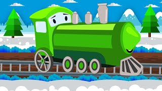Learn to count to 5 with Choo-Choo Train. Educational cartoon for children (toddlers)