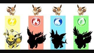 Eevee - Pokemon Evolution & Ultimate Power.
