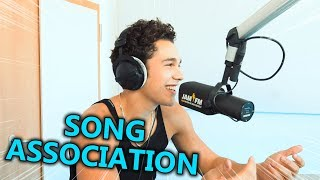 Austin Mahone – Miley Cyrus, Michael Jackson, Bazzi & Justin Bieber | Song Association ⚡ JAM FM