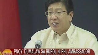 UB: PNoy, dumalaw sa burol ni Amb. to Pakistan Domingo Lucenario