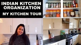 INDIAN KITCHEN ORGANIZATION || MY KITCHEN TOUR || How to organize your kitchen || Tips & Tricks