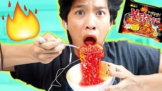 SPICY RAMEN TRY NOT TO LAUGH CHALLENGE!!