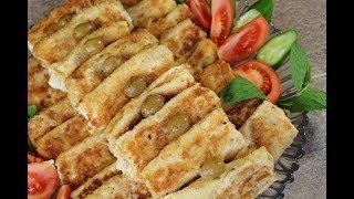 فطور صباحي سهل وسريع بدون فرن بورك التركي بالجبنة السريعة مع رباح محمد ( الحلقة 437 )