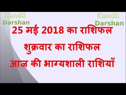 25 May 2018 Rashifal | Aaj Ka Rashifal | आज का राशिफल | आज की भाग्यशाली राशियाँ | Rashifal
