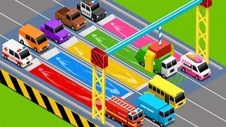 Coloring Street Vehicles Toys - Videos for Children