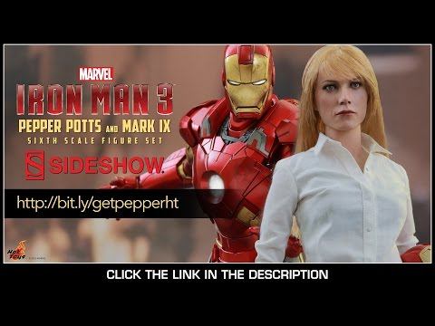 Iron Man 3 Hot Toys Pepper Potts & Mark IX Movie Masterpiece 1 6 Scale Figure Set Review