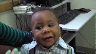 6 Month Old Baby Jaylen Hears with Hearing Aids for the First Time