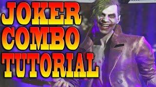 Injustice 2 JOKER COMBOS - JOKER COMBO TUTORIAL!