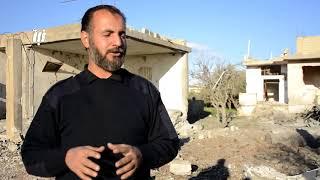 بلدة بصر الحرير بريف درعا الشرقي خالية من السكان بسبب القصف الجوي والصاروخي اليومي