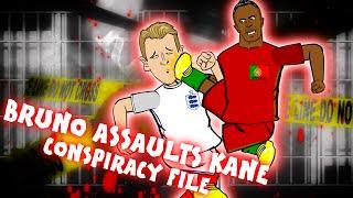 BRUNO ALVES KICKS HARRY KANE! (Parody Conspiracy File England vs Portugal Red Card 1-0)