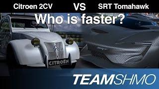 GT6 - Fastest Car VS Slowest Car (SRT Tomahawk vs Citroen 2CV)