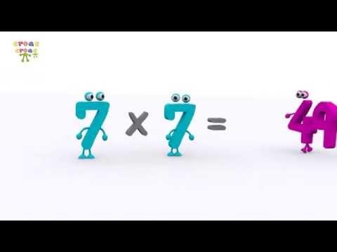 La tabla del 7 NUEVO. Ejercicios de matemática para niños