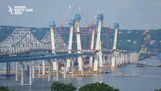 New Governor Mario M. Cuomo Bridge Construction Time Lapse
