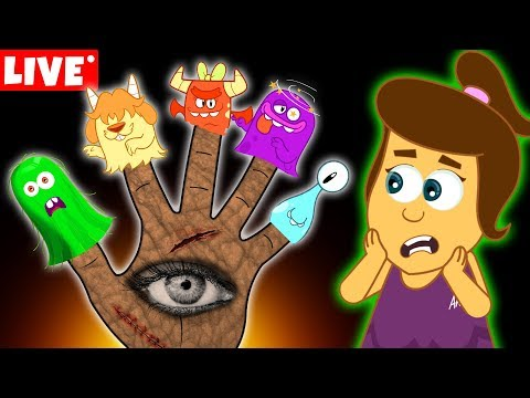 Xxx Mp4 The Five Spooky Monster Finger Family Halloween Songs For Kids By Annie And Ben LIVE 🔴 3gp Sex